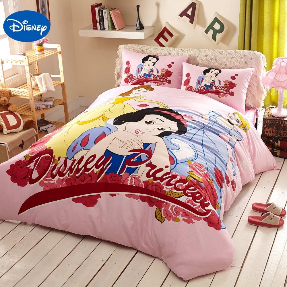 ▻Rosa princesa Disney impreso Ropa de cama conjunto textil para la ...