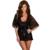 2016 Preto Nightgowns Sleepshirts Lace Chiffon Cueca Noite Casual Vestido Hot Lingerie Sexy Mulheres Dormem Salão Lingerie 4108