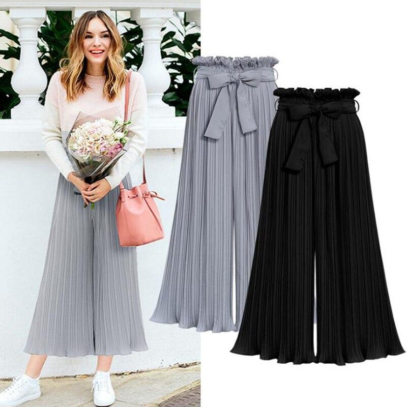 Summer 2019 Modis   Pants   Shein Pantalones Mujer   Pants   Women Trousers Women Streetwear Gothic Clothes Loose Wide Leg   Pant     Capris