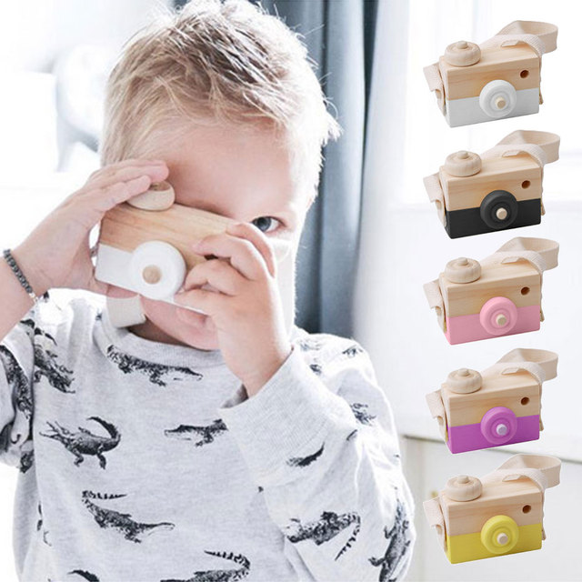 Home Decor Nordic Style Wooden Camera Figurines Fashion Home Photography Prop Decor Educational Decoration Toy for Children 5
