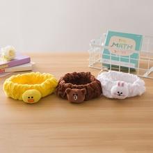 Милая модельная хлопковая повязка на голову с изображением маленьких животных для девочек, 3 цвета, бант для волос кошки, медведя и кролика, женские аксессуары для волос