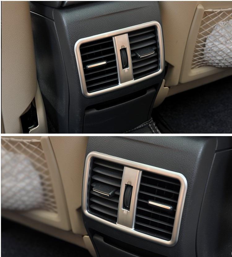 2pcs For Mercedes Benz A/B/GLA/CLA Class C117 W117 W176 AMG Car-Styling ABS Chrome Rear Air Conditioning Vent Trim Accessories accessories for mercedes benz gla 260 cla a200 w176 c117 w117 x156 storage box cover ashtray trim chrome car styling