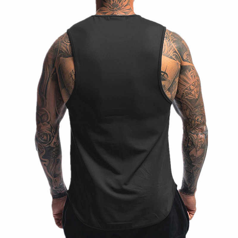2019 sommer Neue Männer Bodybuilding Training Ärmel Tank Tops Herren Turnhallen Kleidung Fitness Jogger Casual Hemd Weste