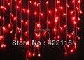 праздник фестиваля занавес свадьбы строку фары привели газа лампы ледяной бар гирлянды 3.5m 100 smd красный, бесплатная доставка