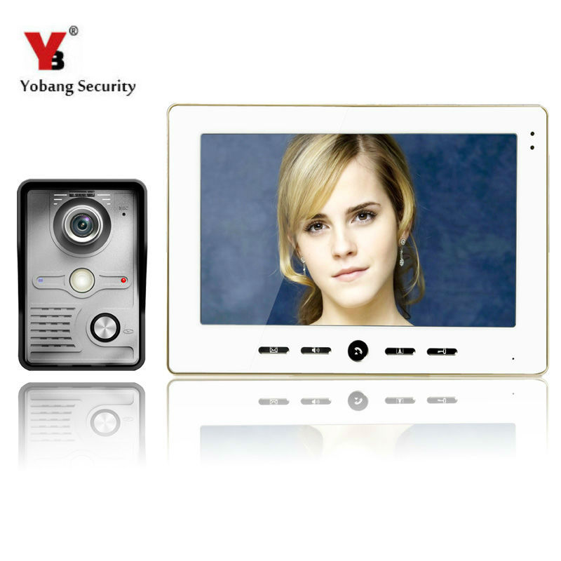 YobangSecurity Wired 10 Inch LCD Color Camera Video Door Bell Phone Intercom Home Gate Entry Security Kit System for Families wired video door phone intercom system with 7 inch color monitor 700tvl aluminum alloy camera for home security