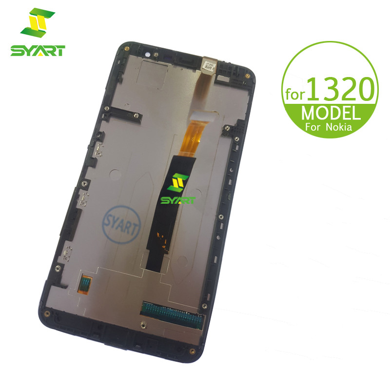 For <font><b>Nokia</b></font> Lumia <font><b>1320</b></font> LCD Display Touch Screen Digitizer Assembly + Frame Replacement Parts For Lumia <font><b>1320</b></font> N1320 6.0
