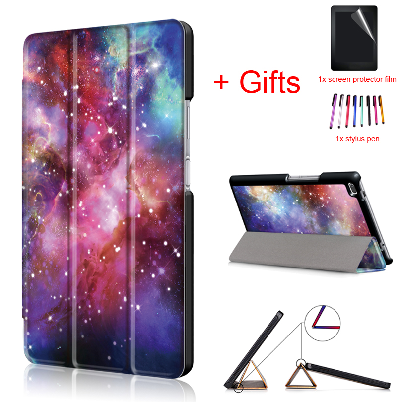 PU Leather Cover Case for Lenovo Tab4 Tab 4 8 TB-8504x TB-8504F TB-8504N TB-8504 8inch Tablet Funda Flip Magnet Case +Film+Pen
