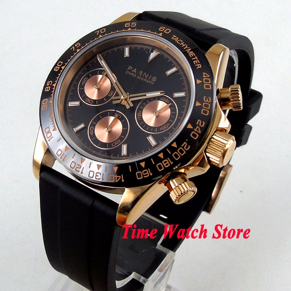 Luxury 39mm Golden PARNIS mens watch Full Chronograph luminous sapphire glass Quartz movement stop watch men 1184Luxury 39mm Golden PARNIS mens watch Full Chronograph luminous sapphire glass Quartz movement stop watch men 1184