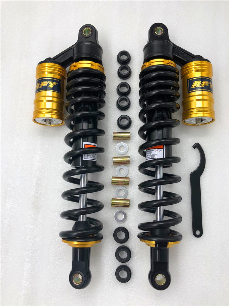 new 15 75 1pair 10mm Spring 400mm Shock Absorb Motorcycle Rear Suspension for Yamaha Honda Suzuki