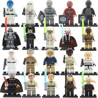 20pcs Lot Compatible Legoedly Star Wars Figure Darth Vader Tano Obi Wan Han Sole Leia BB8