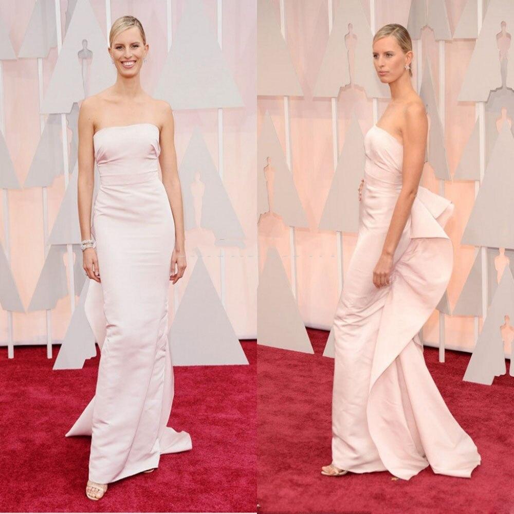 How to measure for carpet - Ivory Color Strapless Zip Back Karolina Kurkova Made To Measure 2017 Oscar Red Carpet Satin Straight Celebrity Dresses Evening