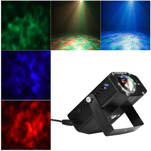 Image 4 - LEDGLE Portable Water Wave Lights Compact Ripple Projector with Remote Controller 3 Lighting Modes Various Color Sound Activated