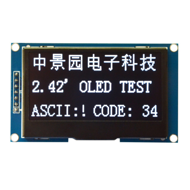 "2.42 ""Serial SPI IIC I2C 12864 Módulo de Display OLED PARA C51 STM32 BRANCO SSD1309"