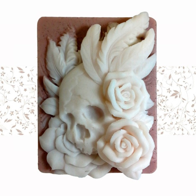 silicone mold Skulls and Roses handmade soap Mold DIY cake decorating tools PRZY high quality wholesale
