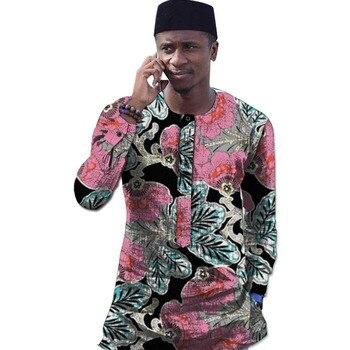Мужская одежда в африканском стиле с длинным рукавом, мужские рубашки в стиле Дашики, модные рубашки в стиле Анкары, индивидуальная африкан