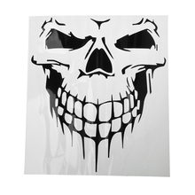 цена на Big Size Punisher Skull Head Car Sticker Engine Hood Door Window Truck Car styling Reflective Decals