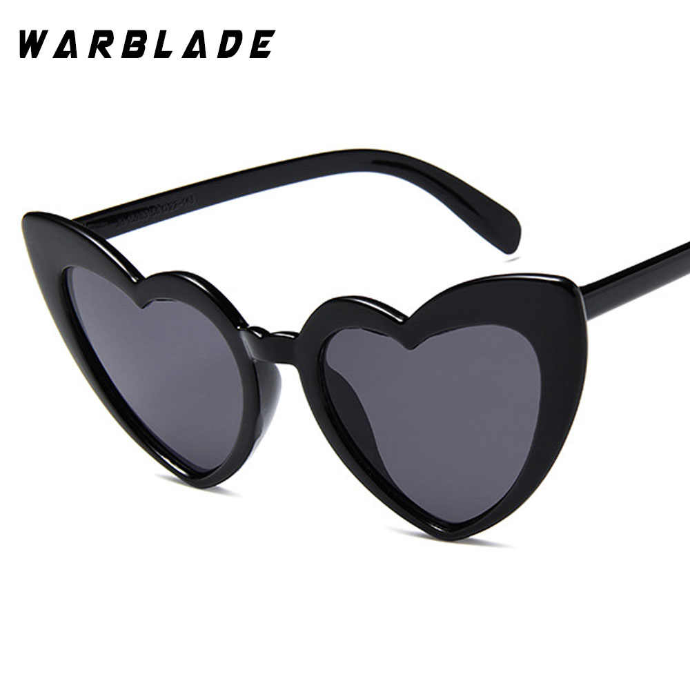 32788324c64 Heart sunglasses women brand designer cat eye sun glasses retro love heart  shaped glasses ladies jpg