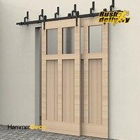 6 8FT Arrow Design Bypass Sliding Barn Wood Door Closet Door Interior Rustic Sliding Barn Door