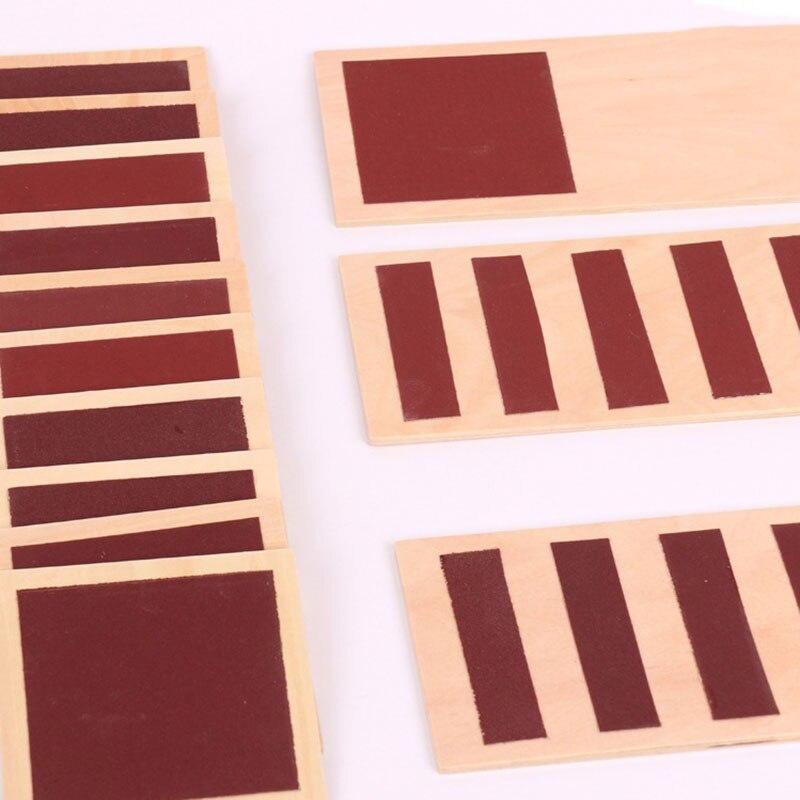 Matériel sensoriel en bois Montessori jouets pour enfants Tactile sens conseil préscolaire Montessori touchant les aides pédagogiques UB2868H - 2