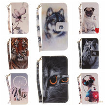 Black Cat Tiger Wolf Pug Leopard Monkey Magnolia Animal Flip Wallet PU Leather Phone Case Cover for Sony Xperia XZ
