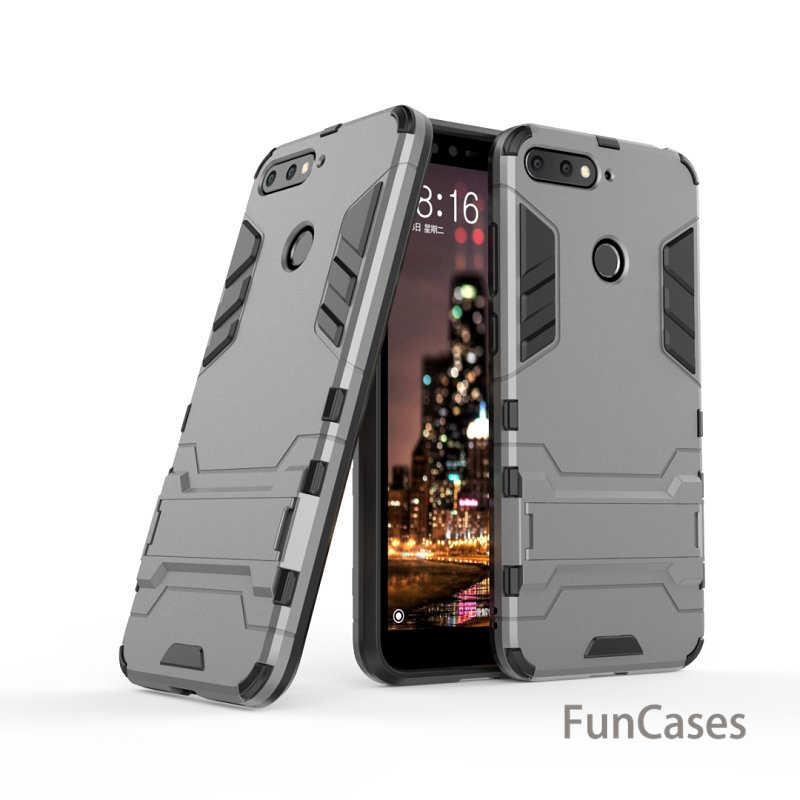 Antiurto Dura del PC Cassa Del Telefono per Huawei Honor 7C AUM-L4 Y5 Y6 Prime 2018 Honor 7A Pro AUM-L29 7A DUA-L22 armatura Della Copertura Della Cassa