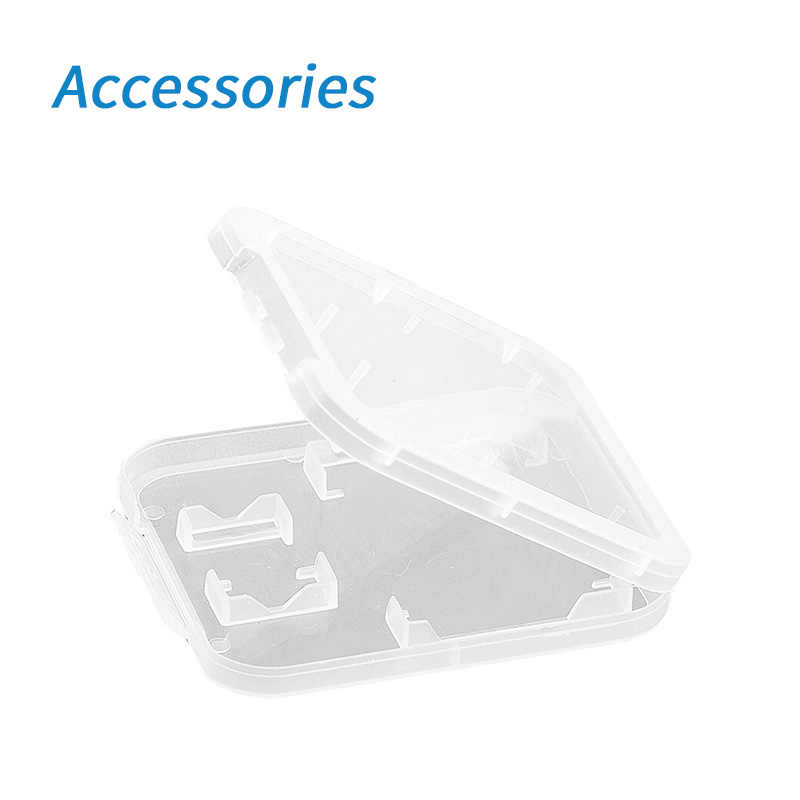 Geheugenkaart Accessoires SD Geheugenkaart Case SDHC Houder Protector Transparante Doos Plastic Opbergdoos Transparant Draagbare Mini Case