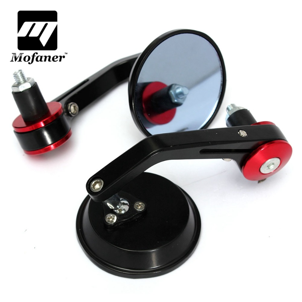 1Pair Universal 7/8 Round Bar End Rear Mirrors Moto Motorcycle Motorbike Scooters Rearview Mirror Side View Mirrors motorcycle indicator rear view side mirrors