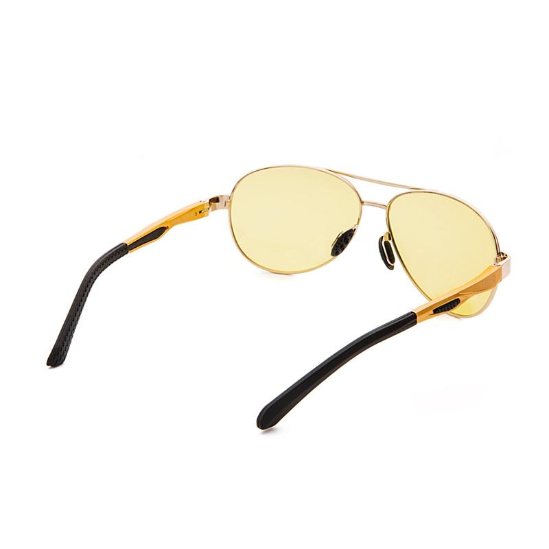 New trendy pilot yellow sunglasses women men color changing glasses case TR sun glasses CR39 lens gafas de sol hombre 7515bs