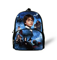 Harry Potter Best Nice Popular Book Bag School New Fashion School Bags for Students Kids Gifts Blue Cartoon Bags for Boys Baby