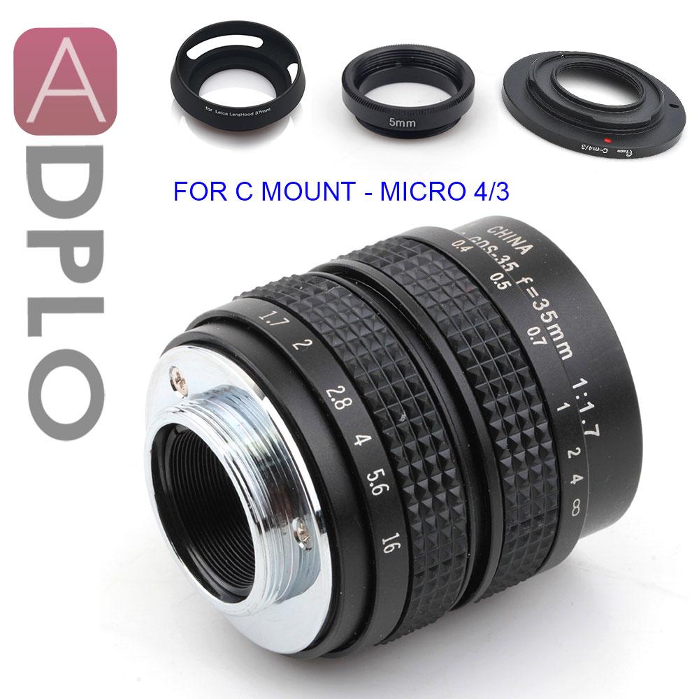 ADPLO 35mm f/1.7 CC TV Lentille + 3 CADEAU pour MICRO 4/3 Nikon 1 Pentax Q Nex fuji FX pour EOS M OM-DE-M10 II E-M5 II E-M1 E-M5 E-M10