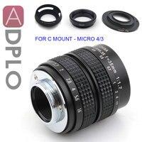 ADPLO 35mm f/1,7 для MICRO 4/3 Nikon 1 Pentax Q Nex Fuji FX для EOS M CC телевизионный объектив + 3 подарок OM-DE-M10 II E-M5 II E-M1 E-M5 E-M10