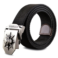 Fashionable SKULL Canvas Belt For Men Women Cool Stereoscopic Fashion Trends Wild Personality Men S Gift