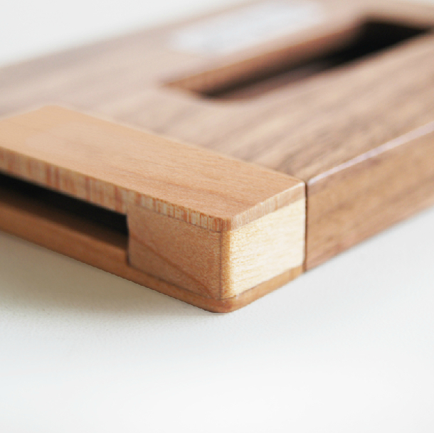creative solid wood cardcasebusiness card holderportable wooden cardfilebank cardboxoffice deskmessage holderfree shipping in card stock from office - Business Card File