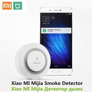 Image 3 - Original Xiaomi Mijia Honeywell Feuer Alarm Detektor Akustische Und Visuelle Alarm Arbeit Mit Gateway Rauchmelder Smart Home Remote