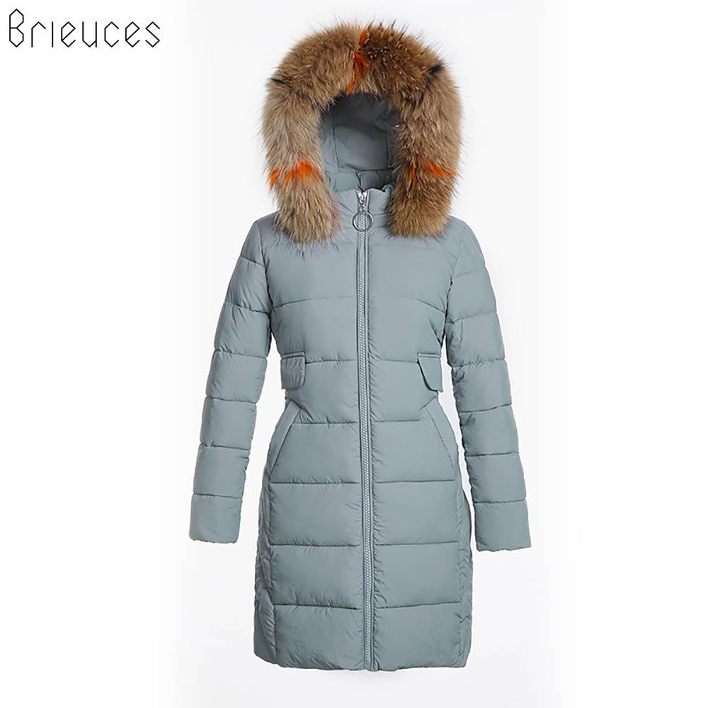 Brieuces 2018 New Winter Coats Women Down Cotton Hooded Jacket Long Casual   Parkas   Thicken Adjustable Waist Winter Jacket Women