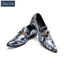 4a1277804 Christia Bella/брендовая дизайнерская Новая мужская летняя стильная обувь с  камуфляжным принтом, роскошные модные мужские лоферы.