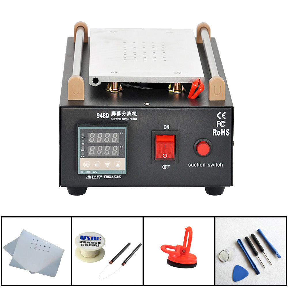 7inch Built-in Pump Vacuum Glass LCD Screen Separator Machine For Glass LCD Touch Screen Refurbished Uyue 948Q uyue 948q max 11 inches lens glass repair built in vacuum pump mobile phone lcd touch screen separator machine