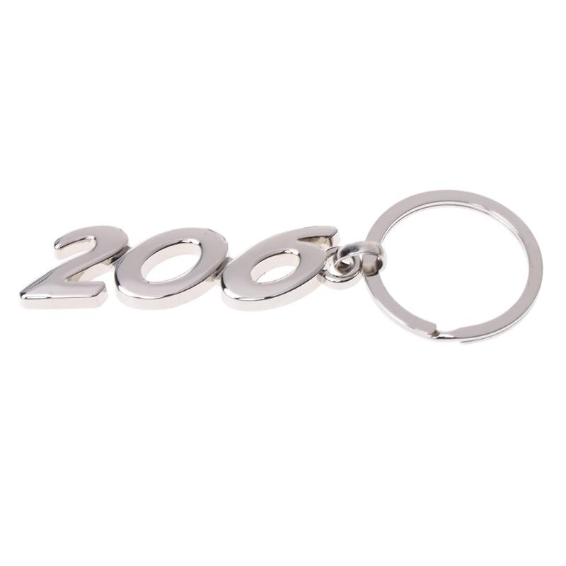 GeïMporteerd Uit Het Buitenland Auto Legering Sleutelhanger Sleutelhanger Voor Peugeot 206 Modern Ontwerp