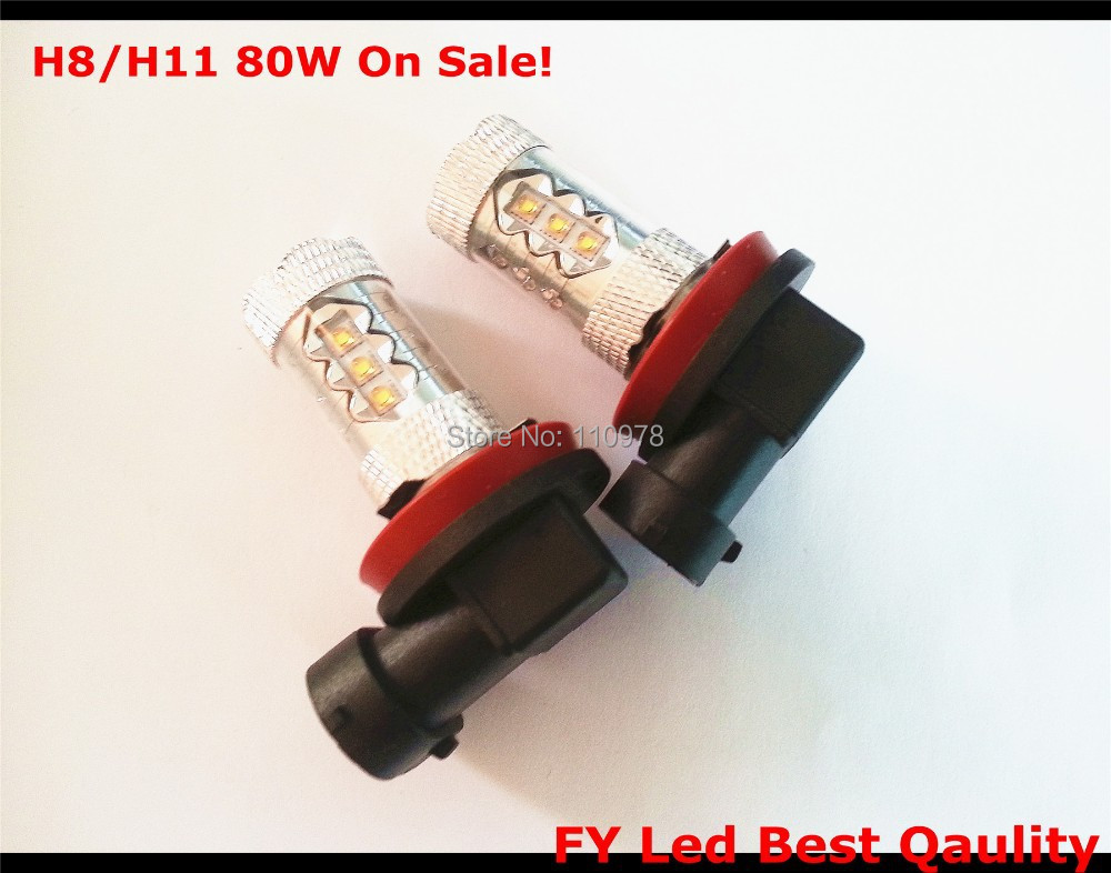 On Sale! 2 Pcs Cree Chips Xenon LED 80 Watt 80W Angel Eyes H8 H11 Nebelscheinwerfer LED Voiture Ampoules Anti Brouillard 10x 5w watt 2r2 2 2 ohm 5