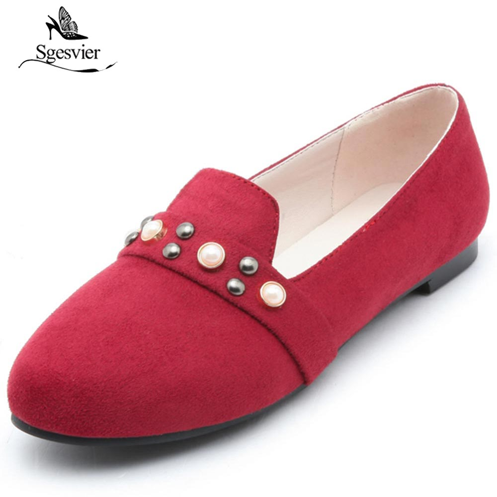 SGESVIER Women Flats Spring Autumn Brand Shoes Women Sneakers Shallow Soft Round Toe Female Casual Shoes Plus Size 31-52 OX212 women loafers casual shoes female round toe slip on wide shallow flats lady shoes oxford spring summer shoes for women or910314