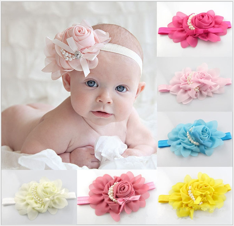 Neue Stil Schöne Stirnband Hairband Baby blumen stirnband ...