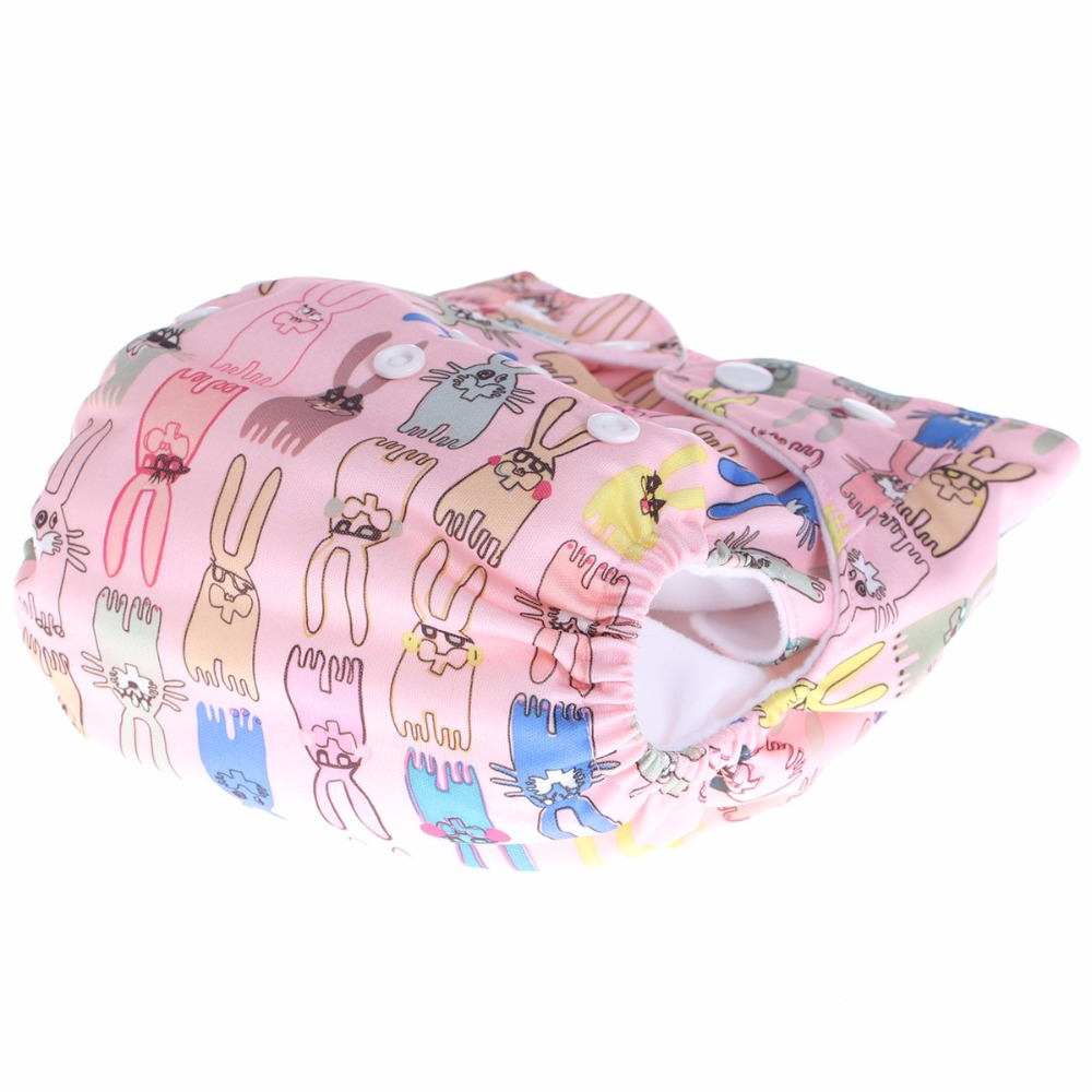 Christmas baby gifts 2 bamboo fiber diapers + 1 super absorbent breathable soft washable printed cloth diaper