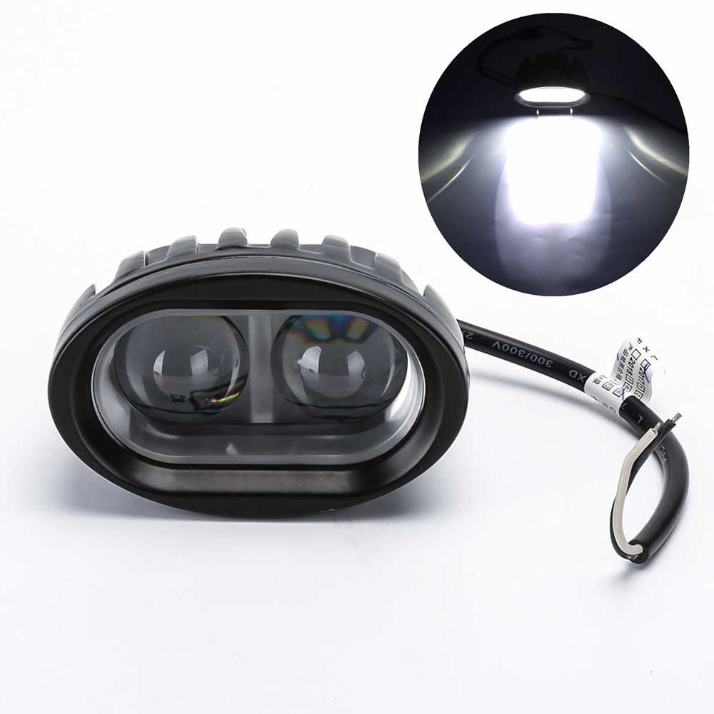 20W Oval LED Work Light Offroad Fog Lamp Car Auto Truck ATV Motorcycle Trailer Bicycle 4WD AWD 4x4 12v 24v Driving Headlamp