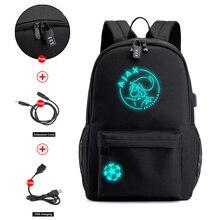 AJAX Student plecak szkolny nastoletnia dziewczyna chłopcy Bookbag USB Anti theft Laptop Canvas wodoodporny plecak dla mężczyzn