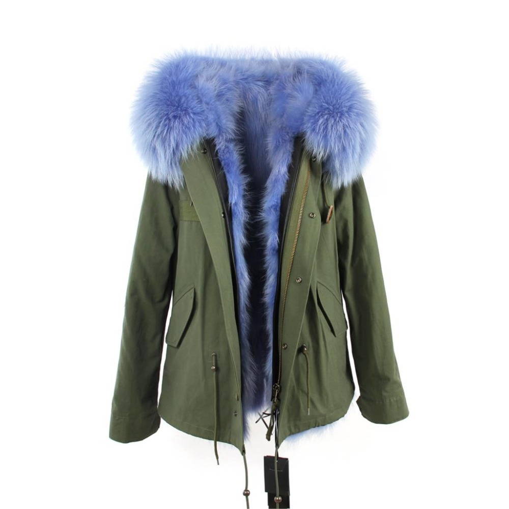 Ladies 2016 Winter Jacket Women Short Real Fur Hooded Wool Jacket Coat Vintage Green Warm Thick Hood Jackets Coats