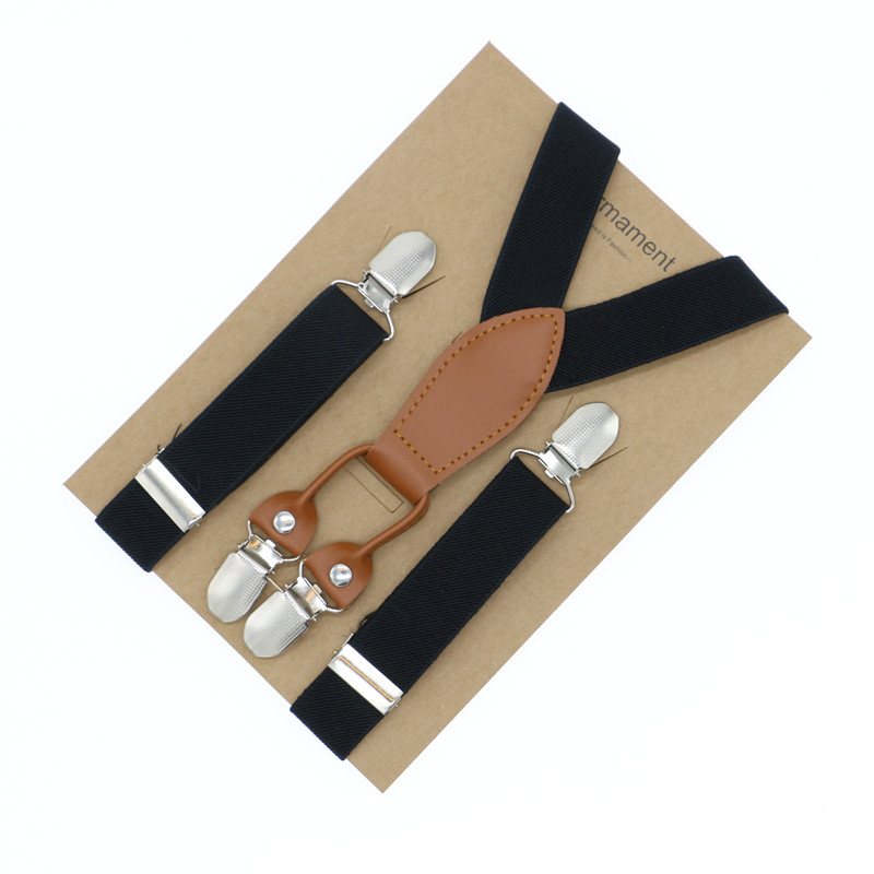 Long Love Leather Fashion 2.5cm Width Kids Baby Suspenders Wedding Groom Page Boy Elastic Gift Packed