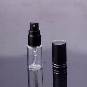 Image 3 - 100ピース/ロット5ミリリットル10ミリリットル15ミリリットルポータブル黒ガラス香水瓶空の化粧品容器のための旅行