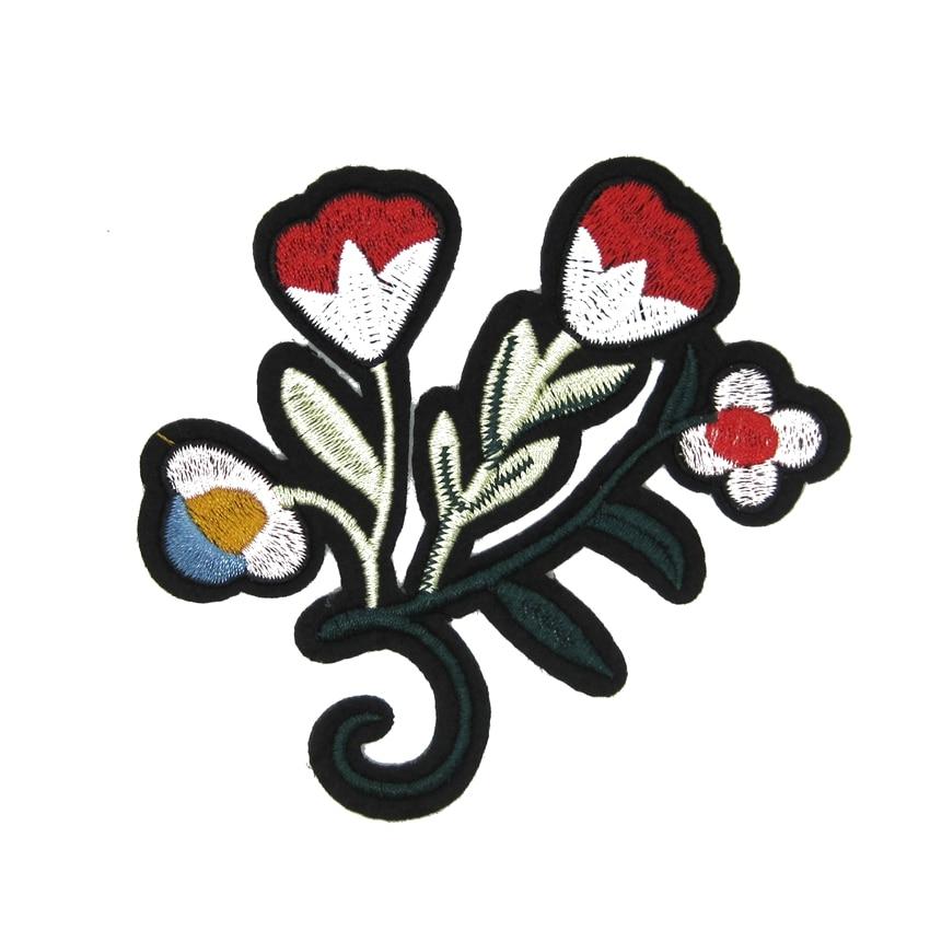 Modni cvijeće željeza na zakrpe biljka tkanina logo Applique - Umjetnost, obrt i šivanje