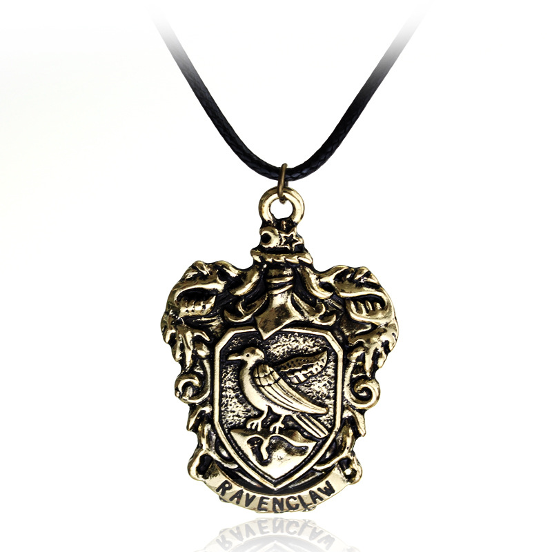 Fashion Magic Academy Movie Jewelry Necklace Vintage Antique Bronze Animal Symbol Badge Necklace for Women and Men