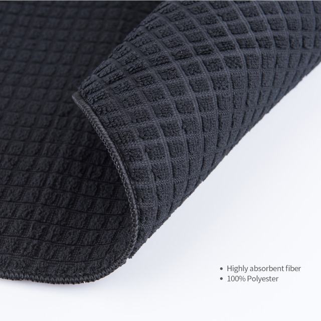 ANHO Dish Drying Mat 15×20 inches For Kitchen Cup Bottle Tableware Bar Cushion Pad Rectangle Black Table Decoration Polyester